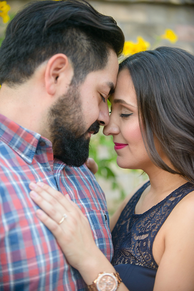 Engaged couple together | Downtown San Antonio Engagement | Laura Elizabeth