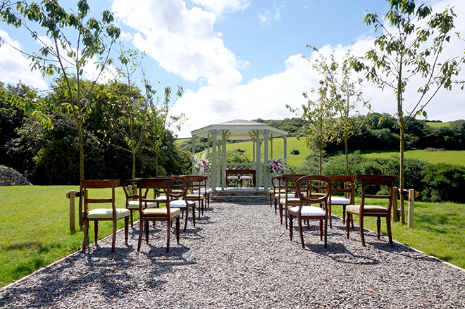 Outdoor Ceremony in Cornwall | Pengenna Manor
