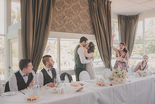 Head table | Rose Garden Beach Wedding | Levien and Lens Photography