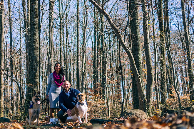 Engaged couple with dogs | Rustic Engagement | Anders Portfolio Photography