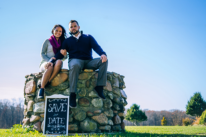 Save the Date picture | Rustic Engagement | Anders Portfolio Photography