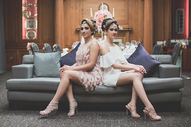 Two women sitting on sofa | City Chic | Zoe Ann Photography
