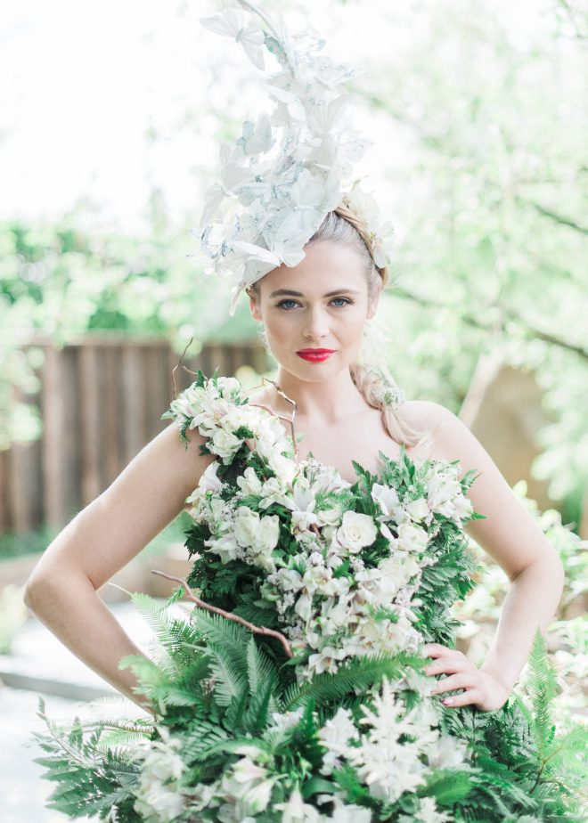 Woman in flower dress | Ultimate Wedding Magazine | Kate Nielen Photography