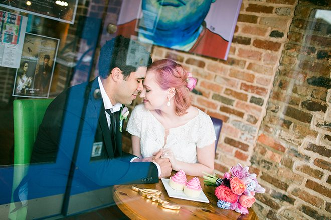 Couple in window | Sweet Heart Elopement | Refine & Foster Photography