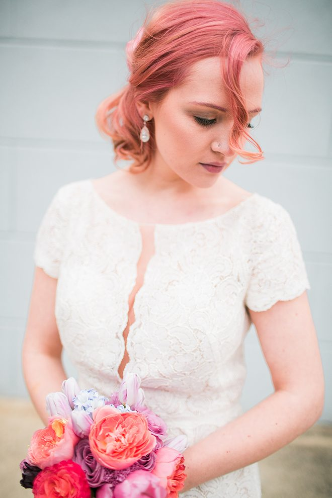 Bride with pink hair | Sweet Heart Elopement | Refine & Foster Photography