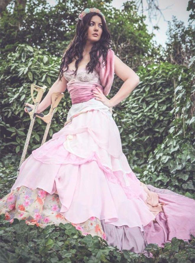 Gemma Flanagan Pose Pink Dress
