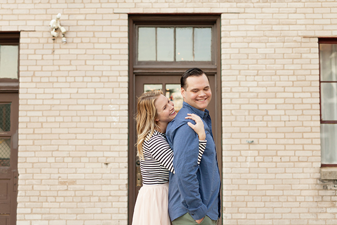 Couple hugging in Michigan | Michigan Fall Engagement | The MittenTog | Michigan Fall Engagement | The MittenTog