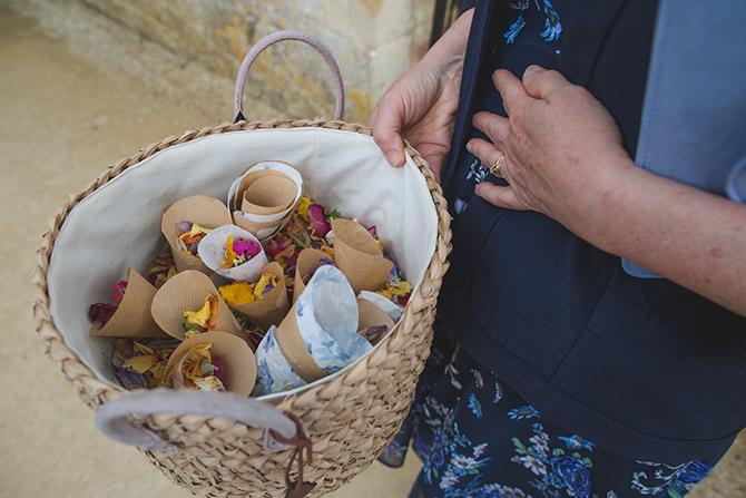 Wedding confetti basket   Outdoor Humanist Wedding   Ragdoll Photography
