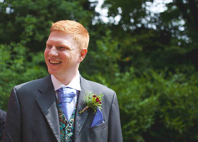 Groom just before ceremony | Outdoor Humanist Wedding | Ragdoll Photography