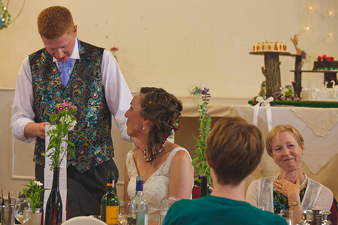 Groom giving wedding speech   Outdoor Humanist Wedding   Ragdoll Photography