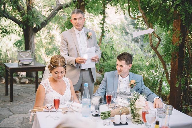 Wedding speeches | Rustic Wedding in Cyprus | Christodoulou Photography