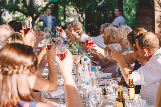 Wedding cheers | Rustic Wedding in Cyprus | Christodoulou Photography