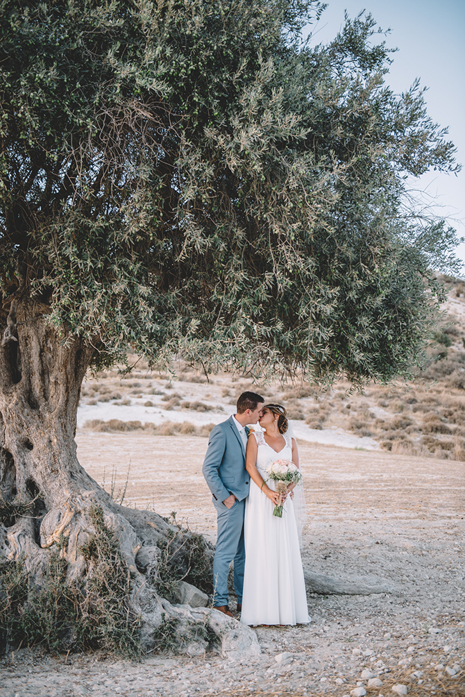 Bride and groom in Cyprus countryside | Rustic Wedding in Cyprus | Christodoulou Photography