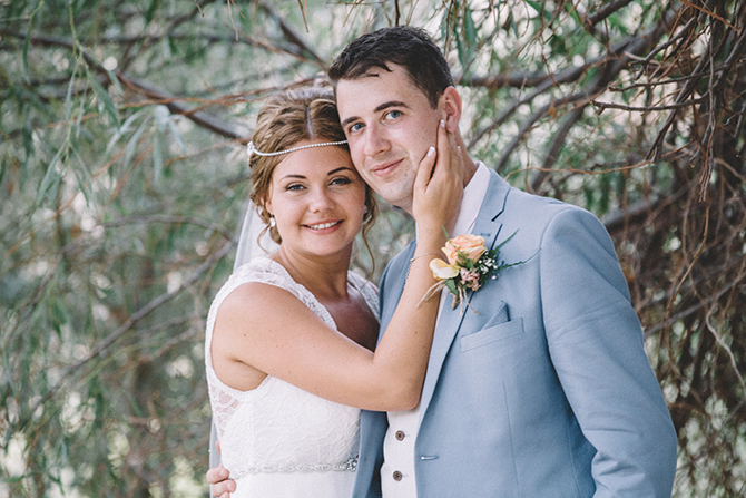 Bride and Groom together | Rustic Wedding in Cyprus | Christodoulou Photography