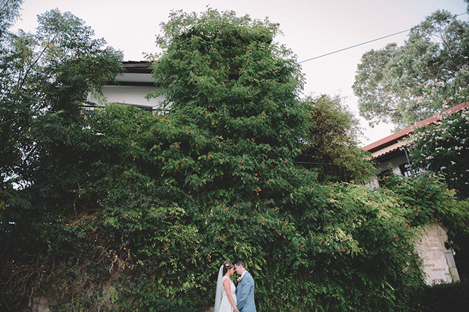 Bride and groom outside venue | Rustic Wedding in Cyprus | Christodoulou Photography