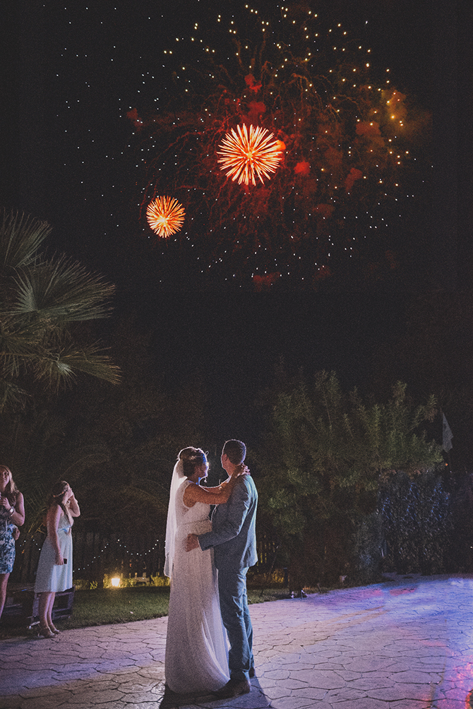 Fireworks at wedding | Rustic Wedding in Cyprus | Christodoulou Photography