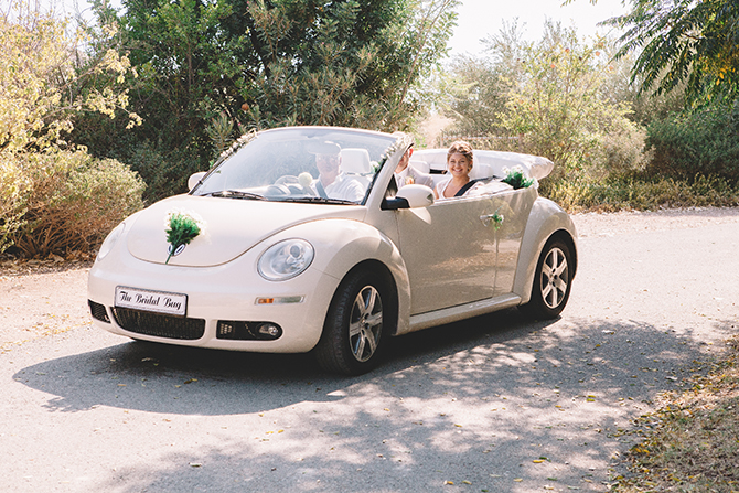 Bride arriving at wedding | Rustic Wedding in Cyprus | Christodoulou Photography