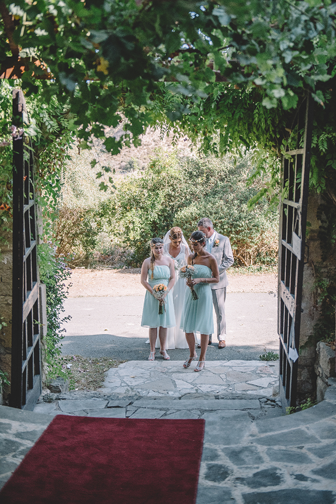 Bridal party arriving at ceremony | Rustic Wedding in Cyprus | Christodoulou Photography