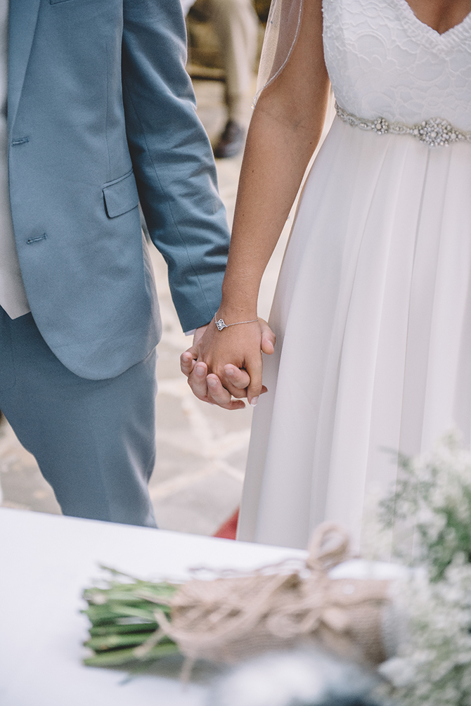 Couple holding hands | Rustic Wedding in Cyprus | Christodoulou Photography
