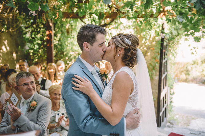 You may kiss the bride | Rustic Wedding in Cyprus | Christodoulou Photography