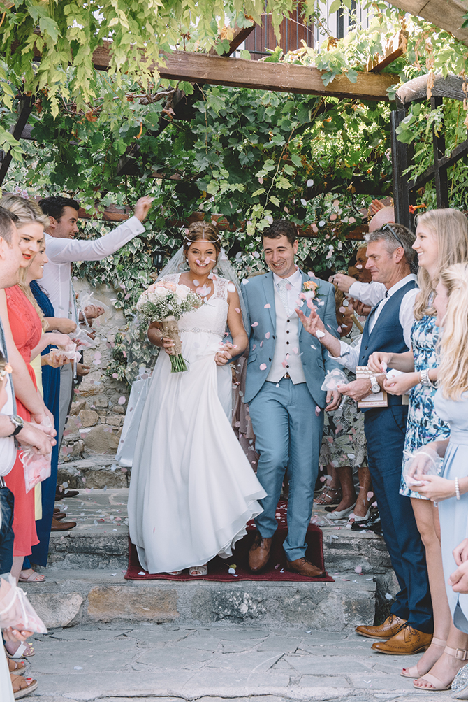 Wedding confetti | Rustic Wedding in Cyprus | Christodoulou Photography