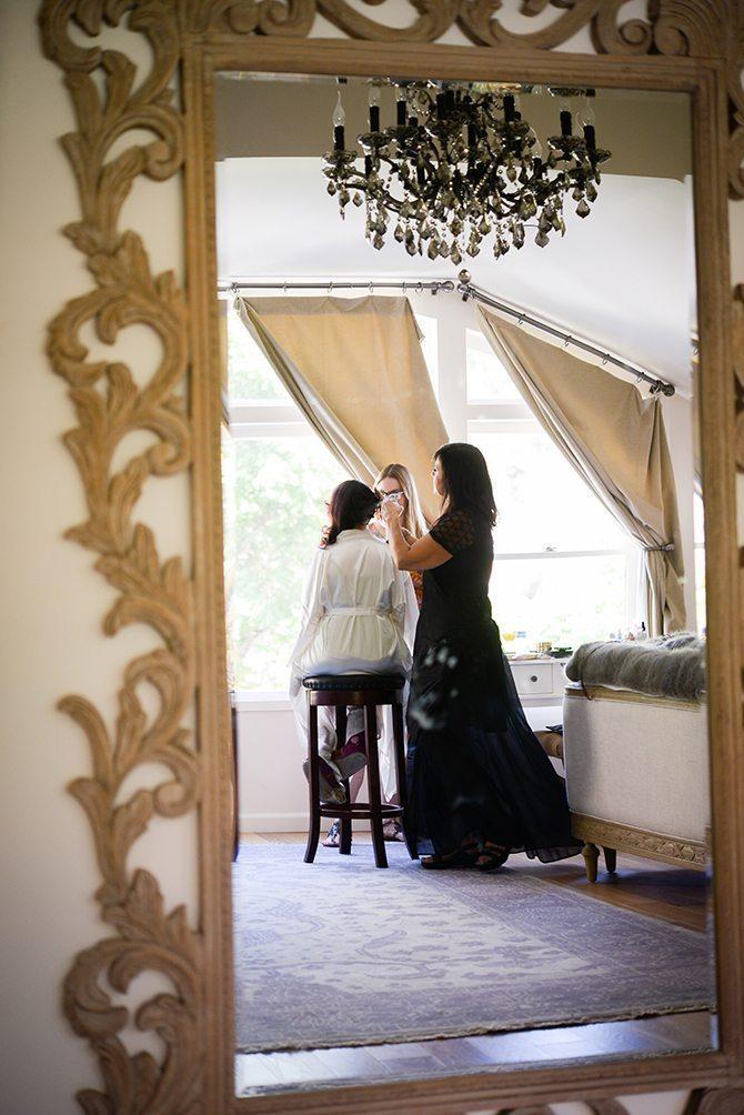 Bride Getting Ready | Magical California Mansion Wedding VeroLuce Photography