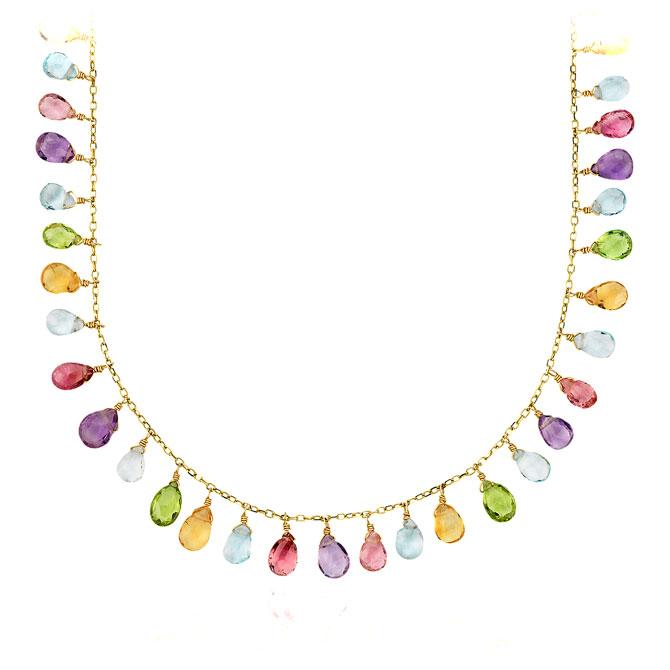 Multi Gemstone Necklace by Blue Nile