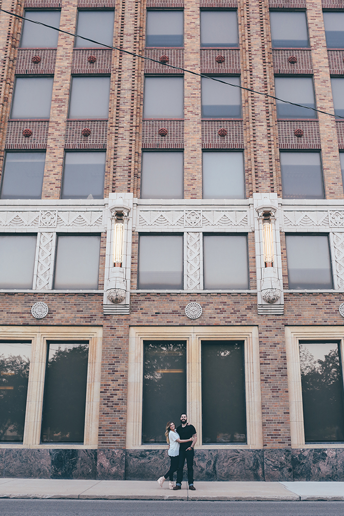 Sweet and Sassy Downtown Engagement | Brandy Swartz