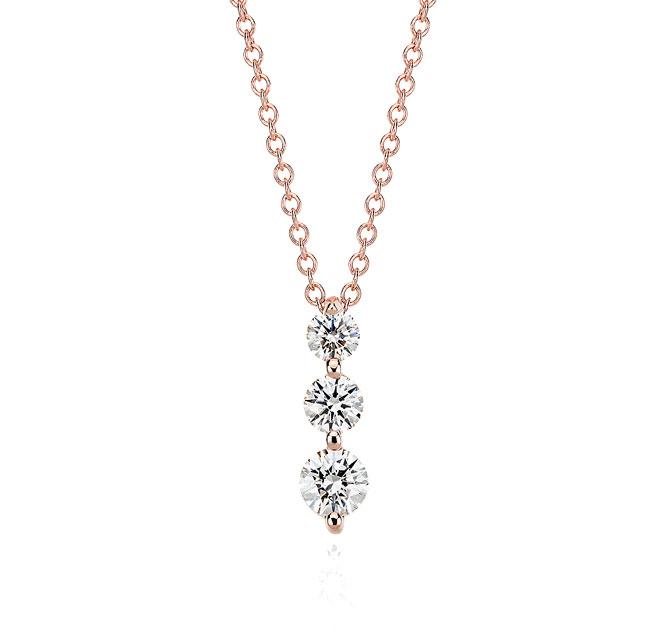 Three-Stone Diamond Pendant by Blue Nile