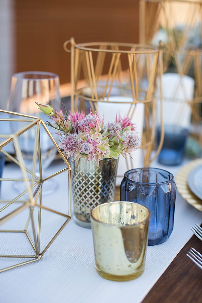 Geometric candle holders | Geometric Wedding Inspiration | Unfaded Beauty Photography