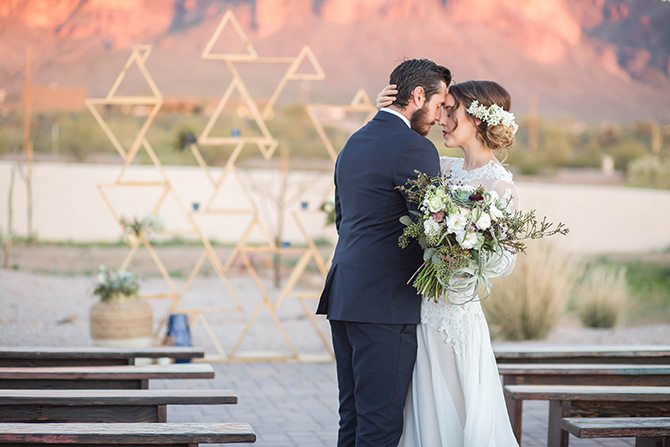 Geometric wedding backdrop | Geometric Wedding Inspiration | Unfaded Beauty Photography