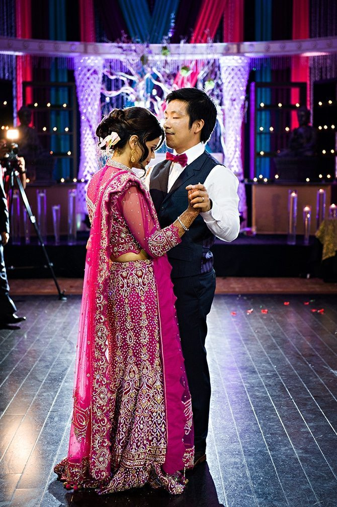 Wedding couple first dance | Colourful Asian Inspired Hindu Wedding | HRM Photography
