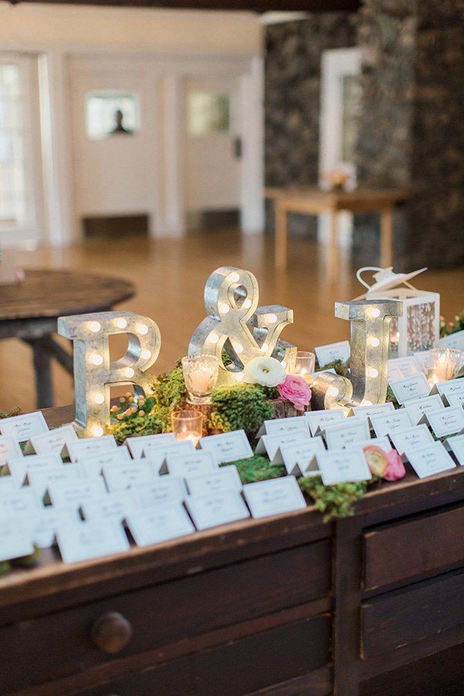 Wedding placards | Lake Side Wedding | Krystal Balzer Photography