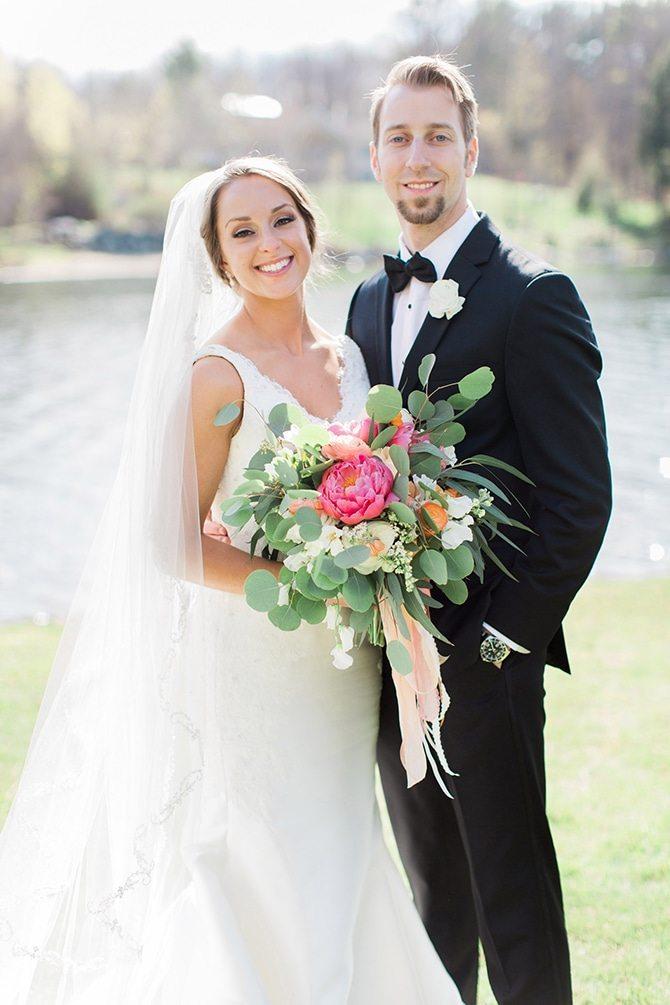 Newlyweds | Lake Side Wedding | Krystal Balzer Photography