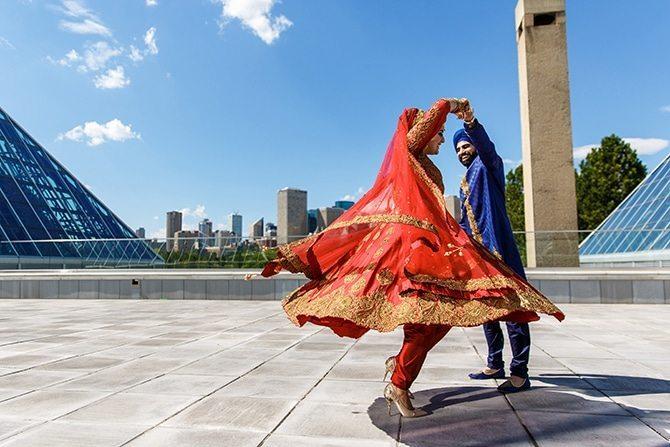 Sikh wedding dancing | Downtown Wedding in Edmonton | Shandro Photo