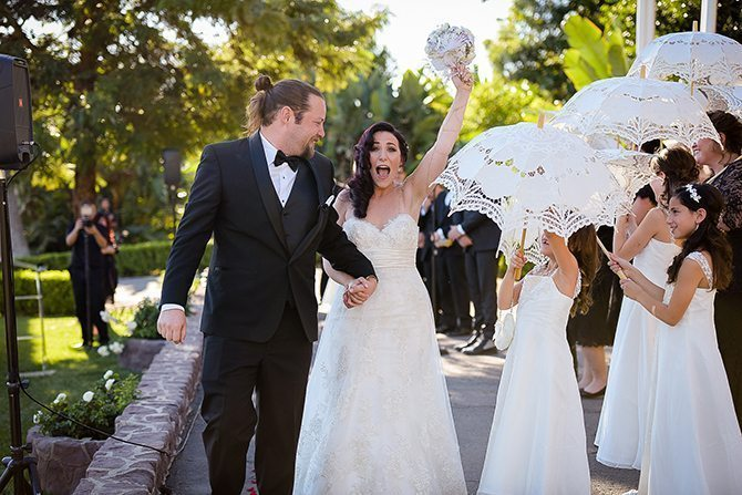 Happy couple after wedding ceremony | Magical California Mansion Wedding VeroLuce Photography