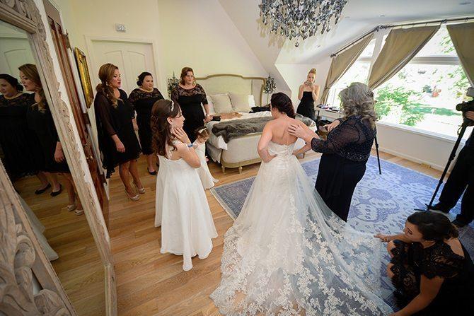 Bride in dress | Magical California Mansion Wedding VeroLuce Photography