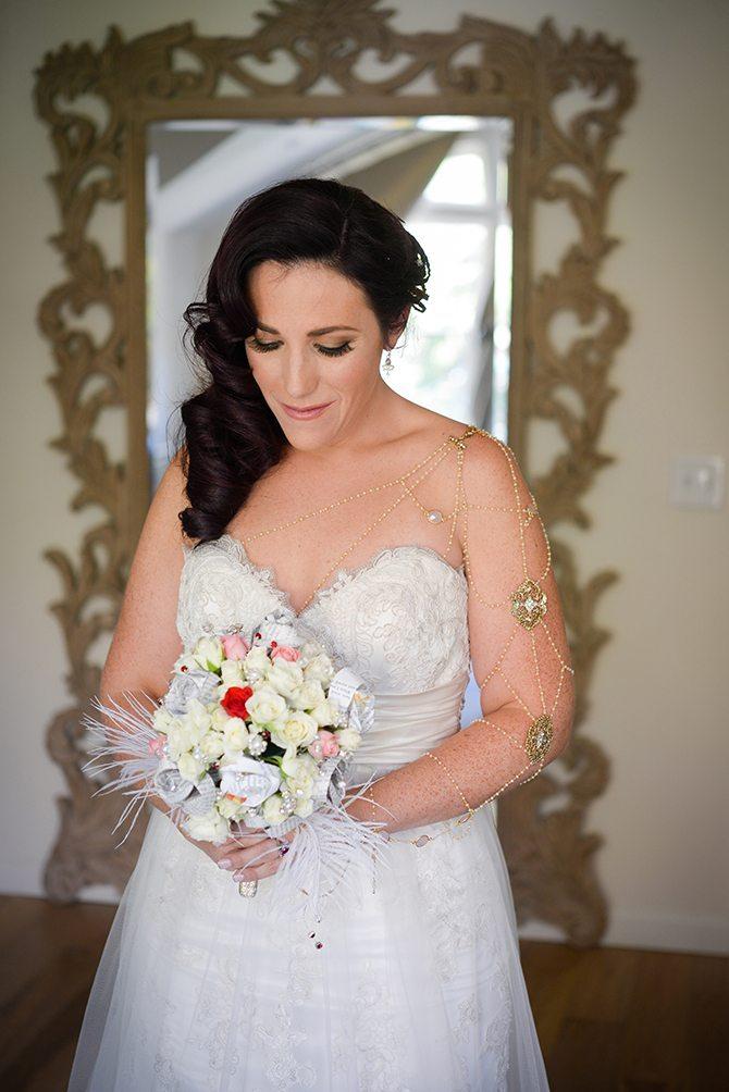 Bride before wedding ceremony | Magical California Mansion Wedding VeroLuce Photography