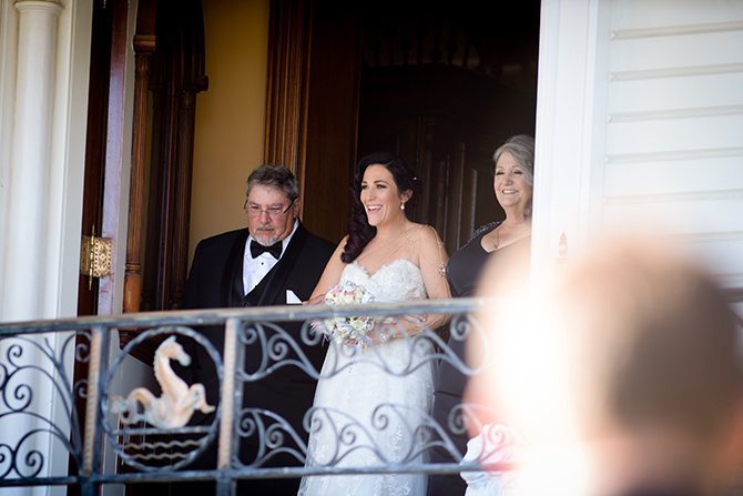 Bride arriving at ceremony | Magical California Mansion Wedding VeroLuce Photography