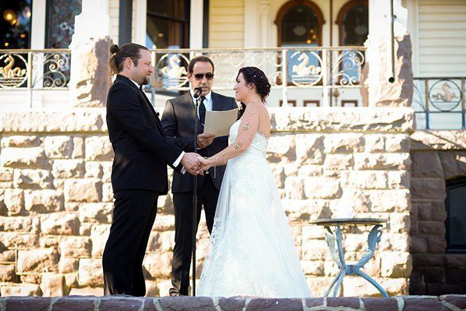 Wedding ceremony | Magical California Mansion Wedding VeroLuce Photography