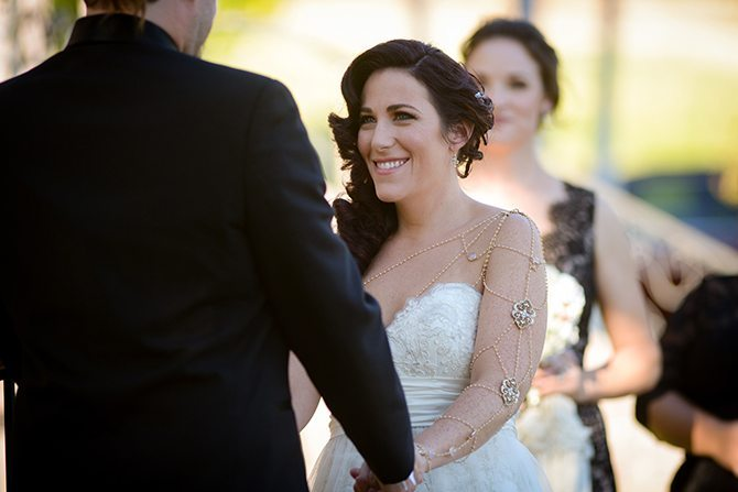 Bride and groom ceremony | Magical California Mansion Wedding VeroLuce Photography