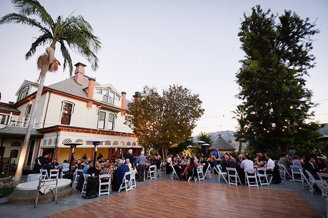 Outdoor wedding reception | Magical California Mansion Wedding VeroLuce Photography