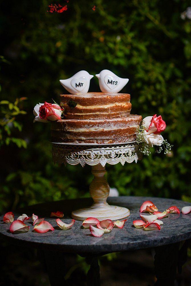 Naked wedding cake | Magical California Mansion Wedding VeroLuce Photography