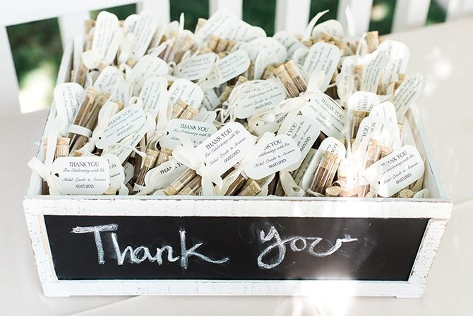 Wedding favors | Vineyard Wedding in Hollister | Amy Bluestar Photography
