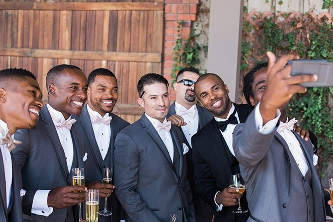 Grooms selfie | Vineyard Wedding in Hollister | Amy Bluestar Photography