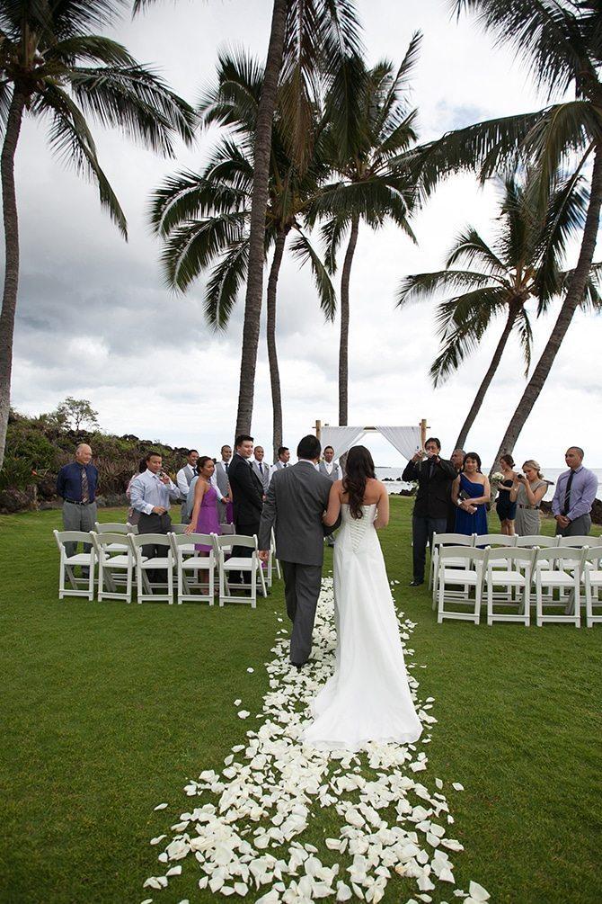 Walking down the aisle | Intimate Hawaiian Beach Wedding | Joanna Tano Photography