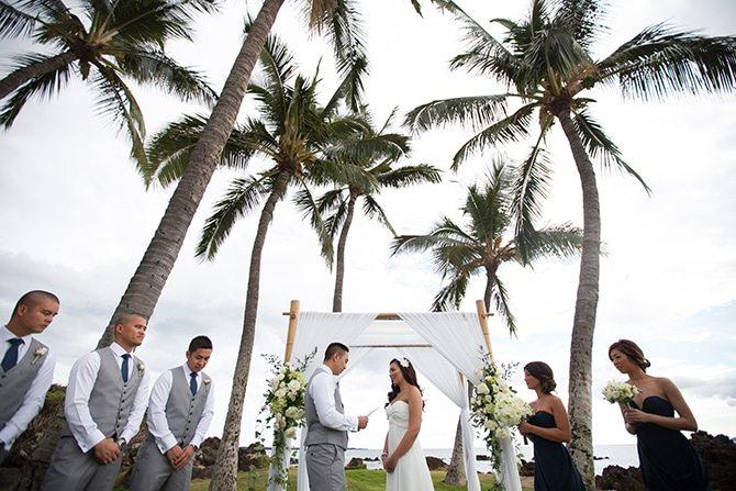 Beach ceremony | Intimate Hawaiian Beach Wedding | Joanna Tano Photography