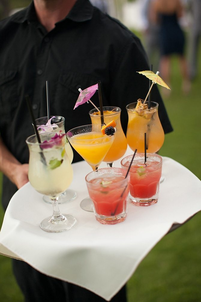 Wedding cocktaisl | Intimate Hawaiian Beach Wedding | Joanna Tano Photography