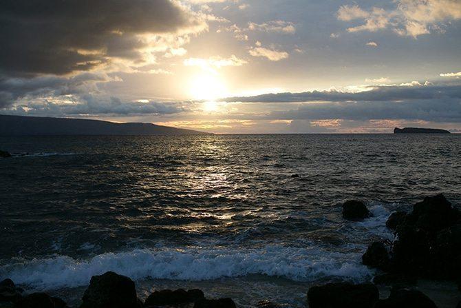 Sunset over the sea | Intimate Hawaiian Beach Wedding | Joanna Tano Photography
