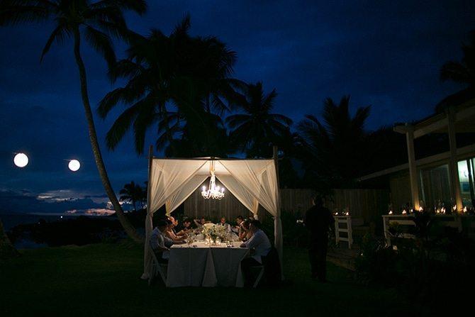 Wedding on the beach at night | Intimate Hawaiian Beach Wedding | Joanna Tano Photography